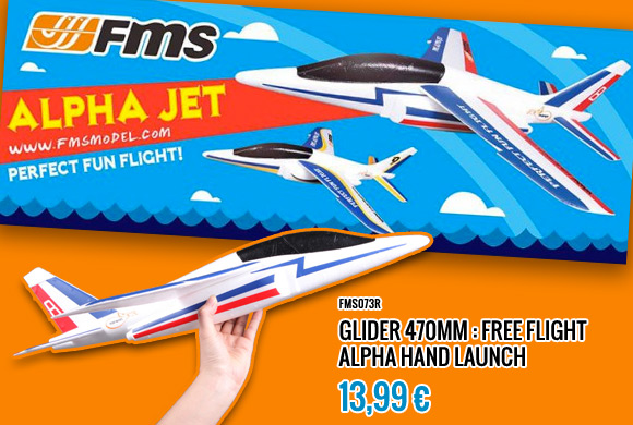 FMS glider handlaunch Alpha jet