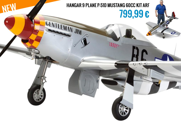Hangar 9 PLANE P-51D MUSTANG 60CC KIT ARF