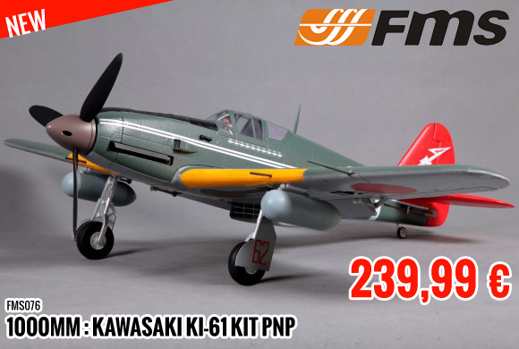 New : 239,99 € FMS 1000mm : Kawasaki KI-61 Kit PNP