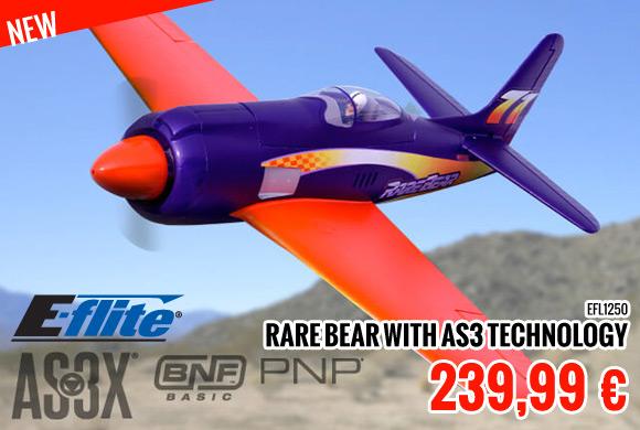 New : 239,99 € E-flite Rare Bear with AS3 Technology