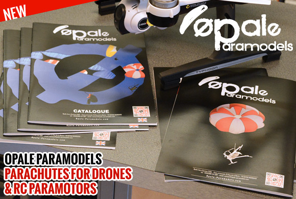 Opale paramodels. Parachutes for Drones & rc paramotors