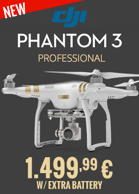 DJI Phantom 3 Pro w/ extra battery 1.499,99 €