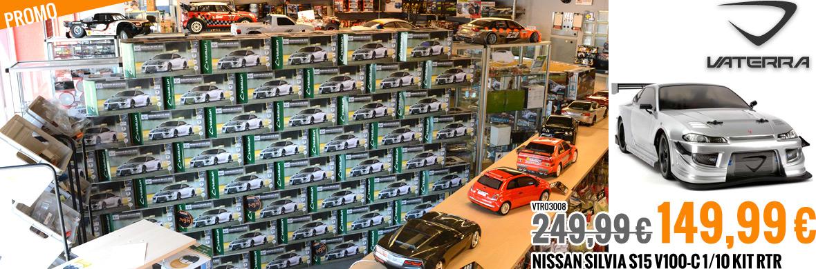 Promo : 249,99 € 149,99 € Vaterra Nissan Silvia S15 V100-C 1/10 Kit RTR