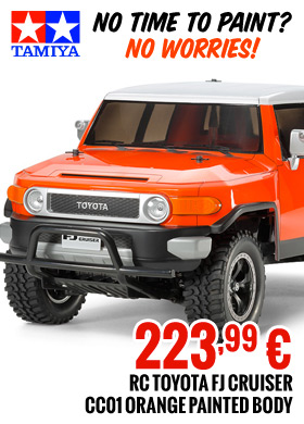 Tamiya CC-01 FJ Cruiser Orange painted 223,99 €