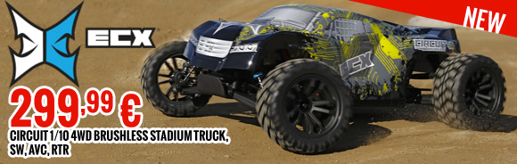 Circuit 1/10 4WD Brushless Stadium Truck, SW, AVC, RTR 299,99 €
