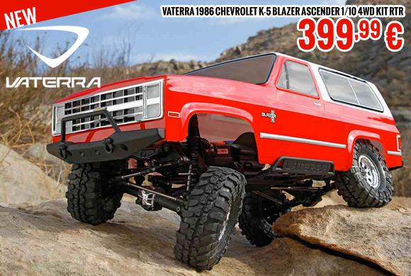 Vaterra 1986 Chevrolet K-5 Blazer Ascender 1/10 4WD kit RTR 399,99 €