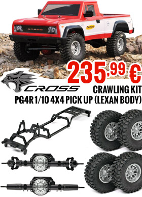 Cross-RC Crawling kit - PG4R 1/10 4x4 Pick up (Lexan body) - CRO90100017 - 235,99 €