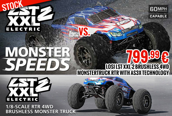 Losi LST XXL-2 Brushless 4WD Monstertruck RTR with AS3X technology 799,99 €