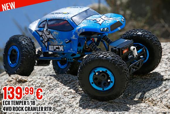 ECX Temper 1/18 4WD Rock Crawler RTR 139,99 €
