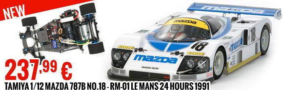 Tamiya 1/12 Mazda 787B No.18 - RM-01 Le Mans 24 Hours 1991 237,99 €