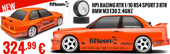 HPI-Racing RTR 1/10 RS4 Sport 3 RTR BMW M3 E30 2.4GHz 324,99 €