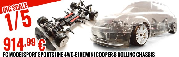 FG Modelsport Sportsline 4WD-510E Mini Cooper rolling chassis clear body 914,99 €