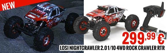 Losi NIGHTCRAWLER 2.0 1/10 4WD ROCK CRAWLER RTR 299,99 €