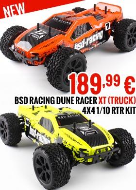 BSD Racing Dune Racer XT (Truck) 4x4 1/10 RTR Kit BSD219T-OR BSD219T-YE 189,99 €