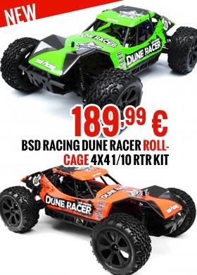 BSD Racing Dune Racer Rollcage 4x4 1/10 RTR Kit BSD218T-GR BSD218T-OR 189,99 €