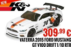 Vaterra 2015 K&N Ford Mustang GT V100 Drift 1/10 RTR 309,99 €