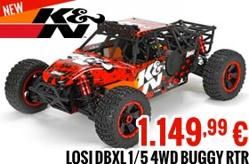 Losi K&N DBXL : 1/5 4WD Buggy RTR 1.149,99 €