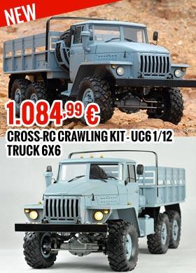 Cross RC Crawling kit - UC6 1/12 Truck 6X6 1.084,99 €