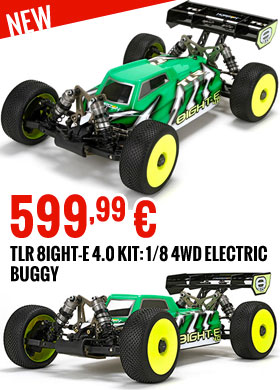 TLR 8IGHT-E 4.0 Kit 1/8 4WD Electric Buggy 599,99 €