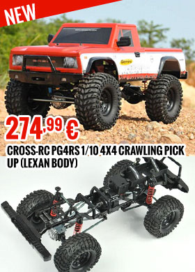 Cross-RC PG4RS 1/10 4X4 crawling pick up (Lexan body) w/ 2 speed transmission gear box 274,99 €