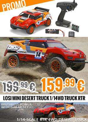 Losi Mini Desert Truck 1/14WD Truck RTR 199,99 € > 159,99 €