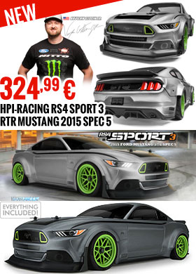 HPI-Racing RS4 Sport 3 RTR Mustang 2015 Spec 5 324,99 €