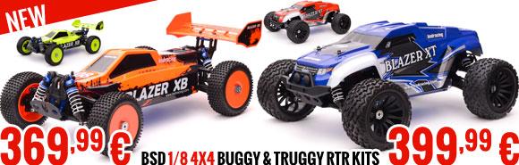 BSD 1/8 4x4 Buggy & Truggy RTR kits 369,99 € or 399,99 €