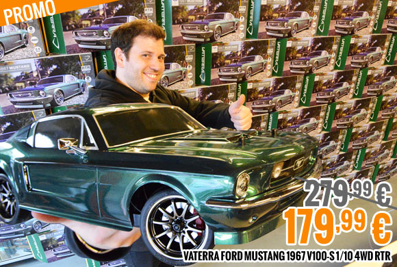 Promo : Ford Mustang 1967 V100-S 1/10 4WD RTR 279,99 € > 179,99 €