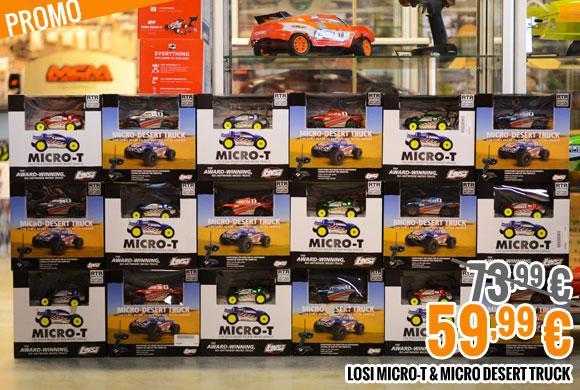 Promo : Losi Micro-T & Micro Desert Truck 73,99 € > 59,99 €