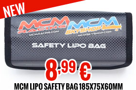 MCM Lipo safety bag 185x75x60mm MCM limited edition 8,99 €