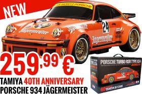 Tamiya 84431 Tamiya Porsche 934 Jagermeister TA02SW