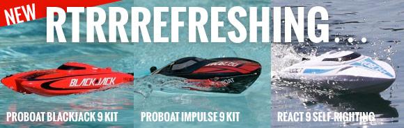 Proboat Blackjack 9 kit RTR / Impulse 9 kit RTR / React 9 Self-Righting Deep-V Brushed RTR 89,99 €
