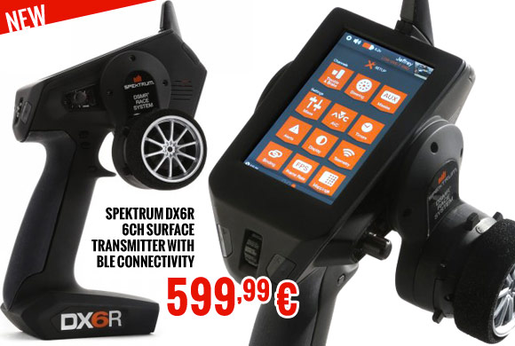 Spektrum DX6R 6CH Surface Transmitter with BLE Connectivity 599,99 €