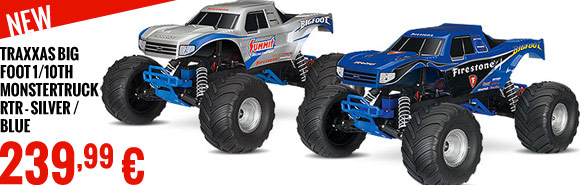Traxxas Big Foot 1/10th Monstertruck RTR - Silver / Blue 239,95 €