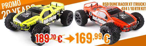 BSD Dune Racer XT (Truck) 4x4 1/10 RTR Kit - Yellow / Orange 189,99 € > 169,99 €