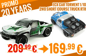 ECX Car Torment 1/10 2WD SCT RTR 209,99 € > 169,99 €