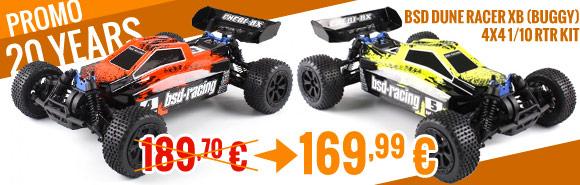 BSD Dune Racer XB (Buggy) 4x4 1/10 RTR Kit - Orange / Yellow 189,99 € > 169,99 €