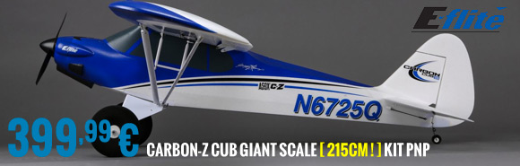 EFlite Carbon-Z Cub Giant scale kit PNP 399,99 €