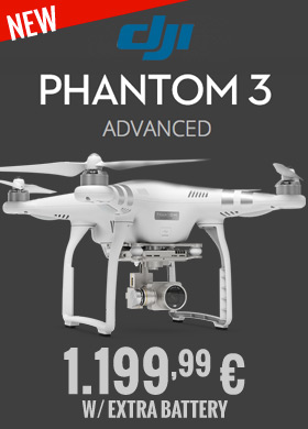 DJI Phantom 3 Advanced w/ extra battery 1.199,99 €