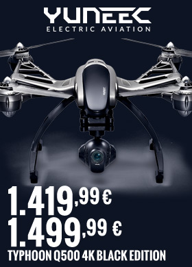 Yuneec Typhoon Q500 4K Black edition 1499,99 € / 1419,99 €