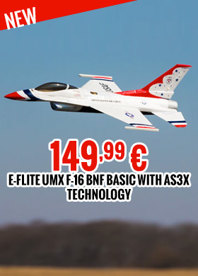 E-flite UMX F-16 BNF Basic with AS3X technology 149,99 €