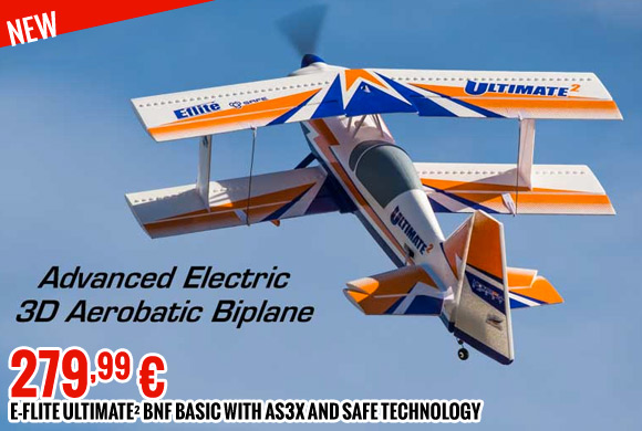 E-flite Ultimate² BNF Basic with AS3X and SAFE technology 279,99 €