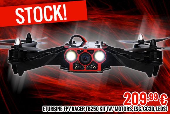 Stock. FPV racer TB250 kit (w/ motors, esc, CC3D, Leds) 209,99 €
