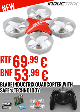 Blade Inductrix Quadcopter Beginner EDF Drone Engineered with SAFE® Technology RTF 69,99 € - BNF 53,99 €