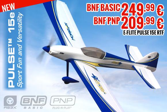 E-Flite Pulse 15e BNF basic 249,99 € - BNF pnp 209,99 €