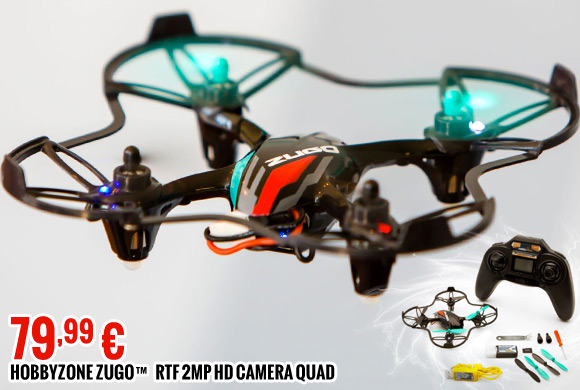 Hobbyzone Zugo™ RTF 2MP HD Camera Quad 79,99 €