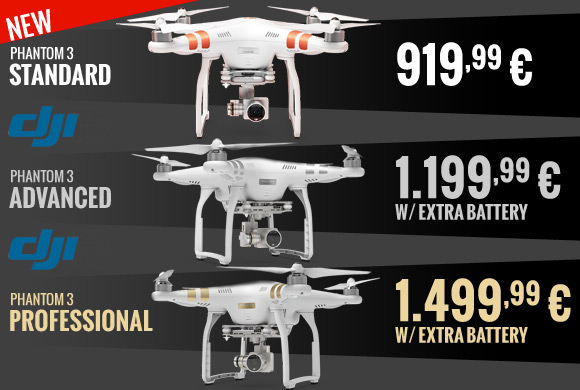 DJI Phantom 3 Standard, Advanced, Professionnal