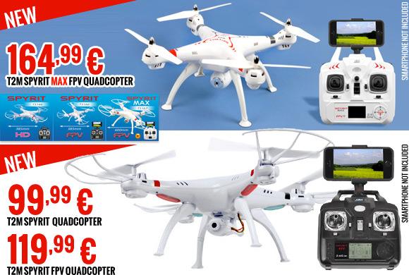 T2M Spyrit 99,99 €, T2M Spyrit FPV Quadcopter, T2M Spyrit Max FPV Quadcopter