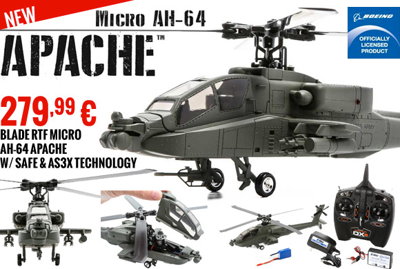 Blade Micro AH-64 Apache RTF 279,99 €