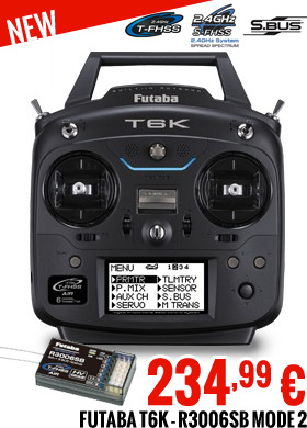 Futaba 6K-R3006SB Mode 2 - 234,99 €